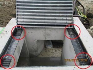 L型止水テープ グレーチング